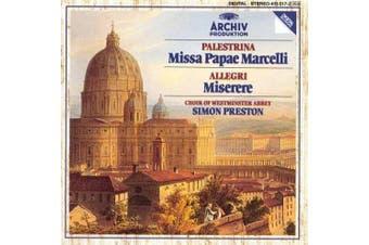 Palestrina: Missa Papae Marcelli / Allegri: Miserere