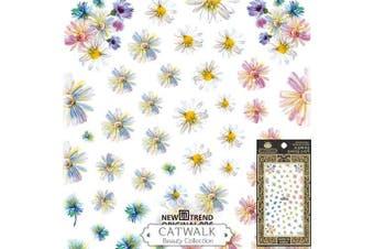 Catwalk Premium Peel-N-Stick Nail Stickers (Daisy)