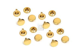 (4 mm Cap, Gold) - CRAFTMEmore 100 PCS 4MM 5MM 6MM Double Cap Rivets Round Rivet Fasteners for Leather Craft Decorations VT (4 mm Cap, Gold)