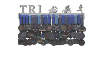 "(Female figures (24"" wide with 3 hang bars)) - Allied Medal Hangers - Triathlon Figures"