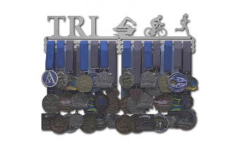 "(Female figures (18"" wide with 3 hang bars)) - Allied Medal Hangers - Triathlon Figures"