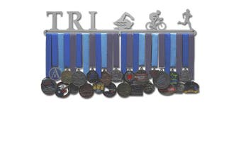 "(Male figures (24"" wide with 1 hang bar)) - Allied Medal Hangers - Triathlon Figures"