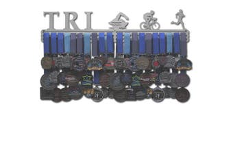 "(Male figures (24"" wide with 3 hang bars)) - Allied Medal Hangers - Triathlon Figures"