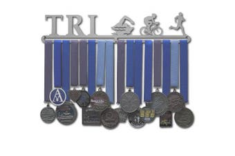 "(Male figures (18"" wide with 1 hang bar)) - Allied Medal Hangers - Triathlon Figures"