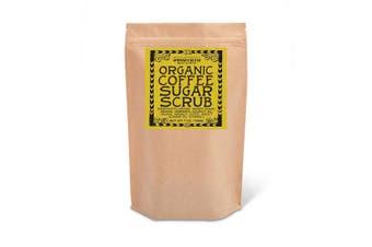 (210ml, Coffee) - Svasthya Organic Coffee Sugar Scrub for Face & Body 100% All Natural Deep Cleansing & Exfoliating for Tone, Radiant Skin, 210ml