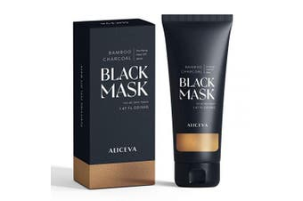 (60 Gramme) - Aliceva Blackhead Remover Mask, Black Mask, Charcoal Peel Off Mask, Activated Charcoal Face Mask For All Skin Types - 50 Gramme