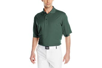 (Small, Dark Pine) - Antigua Men's Pique Xtra-Lite Desert Dry Polo Shirt
