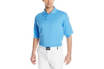 (Small, Columbia Blue) - Antigua Men's Pique Xtra-Lite Desert Dry Polo Shirt