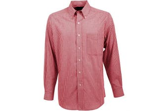 (Large, Cardinal Red/Multicolored) - Antigua Men's Associate Shirt
