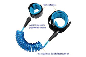 (2.5M, Blue 2.5m) - Blisstime Anti Lost Wrist Link Safety Wrist Link for Toddlers, Babies & Kids
