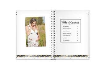 (Pregnancy Journal) - Pearhead Pregnancy Journal, White/Gold/Black