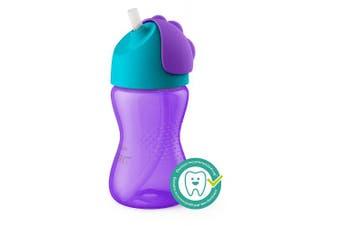 (300ml, Pink/Purple) - Philips Avent My Bendy Straw Cup, 300ml, 2pk, Pink/Purple, SCF792/22
