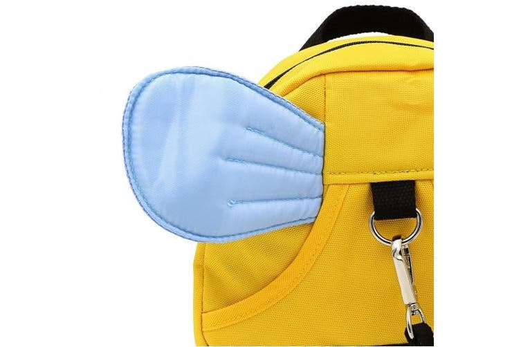 (Yellow+Blue) - Hipiwe Baby Walking Safety Harness Reins Kid Toddler Strap Backpack Child Safety Harness Assistant with Leash Bee with Blue Wings