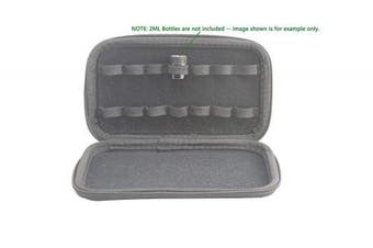 (Black) - Non-Branded 16 Slots Hardly Shell Essential Oil Carrying Case Travel Holds -Size 2ML & 3ML for Purse Makeup Multiple Colours (Black)