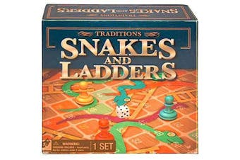 """Snakes & Ladders 13.5""""x13.5"""" Board Game"""