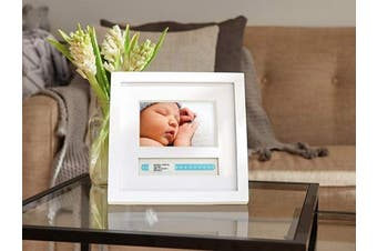 (ID Bracelet Frame) - Pearhead Baby Hospital ID Bracelet and Photo Keepsake Frame, White