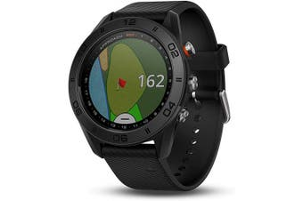 Garmin Approach S60, Premium GPS Golf Watch with Touchscreen Display and Full Colour CourseView Mapping, Black w/ Silicone Band
