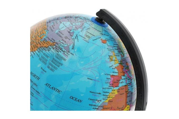 PROW 8 Inch Illuminated 2 in 1 World Globe Interactive Globe for Kid's Room Lighting or Traveller plus Compass