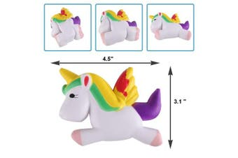 (4.5 Inch Yellow) - Anboor Slow Rising Squishies Unicorn Pegasus Kawaii Scented Soft Squishies Dream Colour Animal Toys