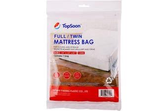 (Full/Twin) - TopSoon Mattress Storage Bag Mattress Disposal Bag Full/Twin Size 140cm by 220cm Clear