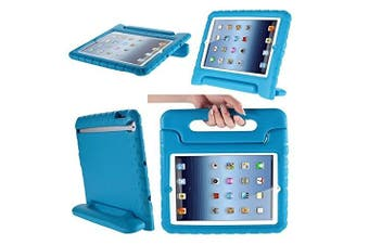 (blue) - Aken Multi Function Child / Shock Proof Kids Cover Case with Stand / Handle for Apple iPad 2nd / 3rd / 4th Generation Tablet (iPad 2/3/4) (blue)