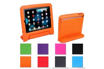 (Orange) - Aken Multi Function Child / Shock Proof Kids Cover Case with Stand / Handle for Apple iPad 2nd / 3rd / 4th Generation Tablet (iPad 2/3/4)(Orange)