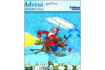 Mini Advent Calendar Cards (WDM1007) - Lighting the Way - Glitter Varnished