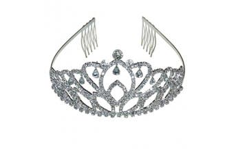 Princess Crown Tiara Diamante Pageant Tiaras Headband Headpiece Hair Comb