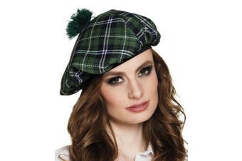 (Green) - BOLAND BV Boland 81229 Mrs Tartan Beret – Costume – One Size