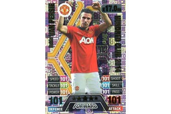 2016/17 MATCH ATTAX 100 CLUB ROBIN VAN PERSIE HUNDRED CLUB LEGEND CARD 2014 #463