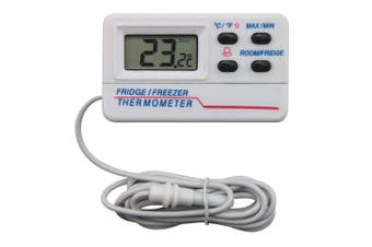 Digital Fridge Thermometer With Warning Alarm and Max Min Feature 1.2m Cable