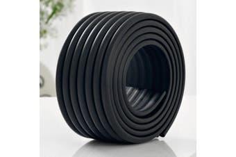(Black) - M2cbridge Multifunctional Edge and Corner Guard Coverage Baby Safety Bumper DIY 2m (Black)
