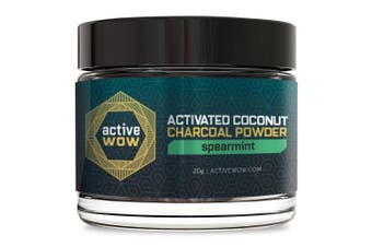 (Spearmint) - Active Wow Teeth Whitening Charcoal Powder, Spearmint 20g