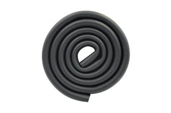 (Black) - M2cbridge U Shape Extra Thick Furniture Table Edge Protectors Foam Baby Safety Bumper Guard 2 M (Black)