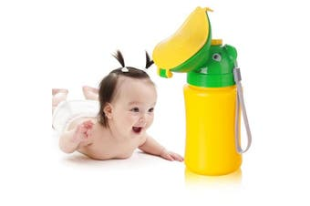 (Yellow-2) - ONEDONE Baby Child Potty Portable Urinal Emergency Toilet for Camping Car Travel and Kid Potty Pee Training (Girl)
