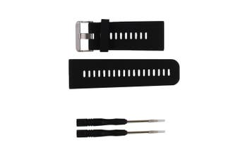 (black-1) - Replacement band for Garmin Vivoactive HR GPS Smart Watch, Silicone Replacement Fitness Bands Wristbands with Metal Clasps for Garmin vivoactive HR GPS Smart Watch