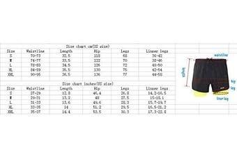 (medium, black) - ARSUXEO Men's Active Training Running Shorts 2 in 1