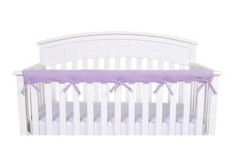 (Narrow Front Rail - 1 pc., Lavender) - Trend Lab Waterproof CribWrap Rail Cover - for Narrow Long Crib Rails Made to Fit Rails up to 20cm Around