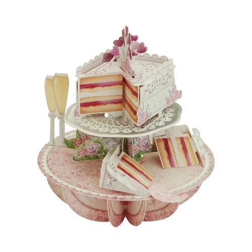 (Wedding Cake) - Santoro Pirouettes 3D Pop up Card, Wedding Cake Colour: Wedding Cake