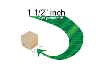 (Bag of 24) - Wooden Cubes - 3.8cm - Wood Square Blocks For Photo Blocks, Crafts & DIY Projects (2.5cm - 1.3cm ) - by Craftparts Direct - Bag of 24