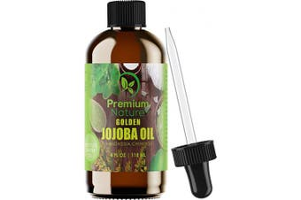(1 pack) - Jojoba Hair Face Carrier Oil - Pure Cold Pressed Unrefined Natural Serum Essential Oils Mixing Facial Skin Cuticle Lip Nail Moisturiser Frizzy Hair Growth Acne Scar Treatment Strechmark Remover…