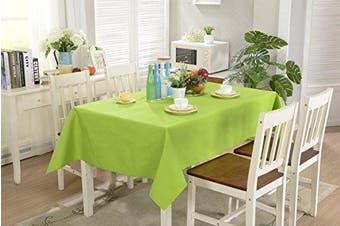 (Lime Green) - All For You Rectangular Fabric Table Cloth,Rectangle Washable Dinner Picnic Table Cloth,Assorted Colours- SIZE 130cm X 180cm (Lime Green)