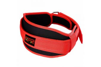 (X-Large, Red) - CFR Weight Belt Back Lumbar Support for Weightlifting Olympic Lifting Unisex Wide Compression Waist Band UPS Post