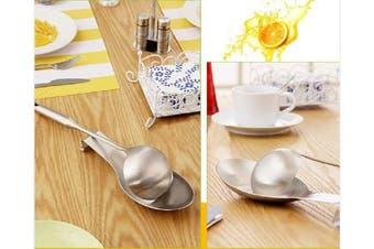 (1) - LIANYU Stainless Steel Spoon Rest, Spatula Ladle Holder, Heavy Duty, Dishwasher Safe