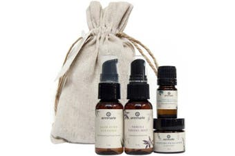 Annmarie Skin Care Balance Travel Kit - Normal Skin Care Set with Cleanser, Toning Mist, Facial Oil + Exfoliating Mask (4 Piece Kit)