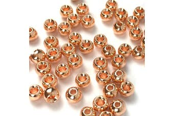 """(2.4 mm (3/32"""")., copper) - Aventik 50pc Brass Beads Tapered Hole Fly Tying Materials Lure Jig 10 Colours / 5 Sizes Fly Fishing"""