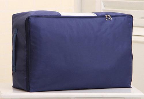 (Dark Blue) - EVST Under bed clothing storage bag, Oxford Plaid Cloth storage bag (Dark Blue) Colour: Dark Blue EVST Under bed clothing storage bag, Oxford Plaid Cloth storage bag with two handles.