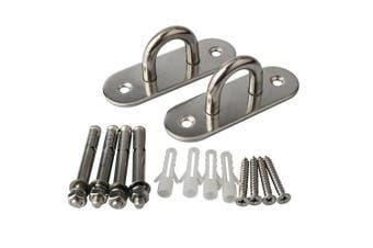 (DD009-2P) - Alise Suspension Ceiling Hooks Hammock Swing Hook 10cm Length Stainless Steel,1 Pair