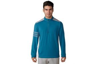 (Medium, Mystery Petrol) - adidas Golf Men's Competition 3-Stripe 1/4 Zip Pullover