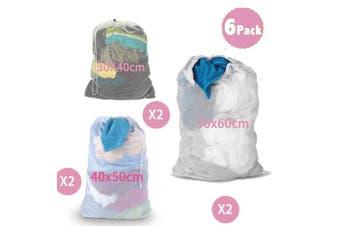 (White) - DoGeek-Laundry Bags- White Mesh Washing Bags Large Laundry Bag - For Washing Machine (6 PCS)
